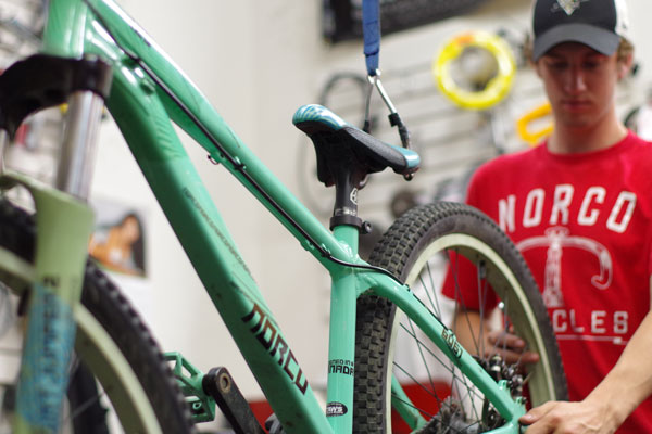 Norco bike being repaired